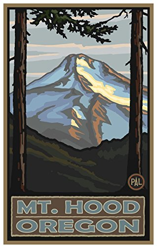 Mount Hood Oregon Travel Art Print Poster by Paul A. Lanquist (12