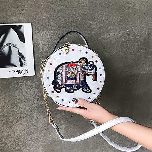 Retro Costura de Carta Cuadrada gelatina impresión Bolsa Bolsa Transparente Color Mujer Tendencia Paquete pequeña Bolso Lentejuela de láser de Contraste Tdgq6Tw