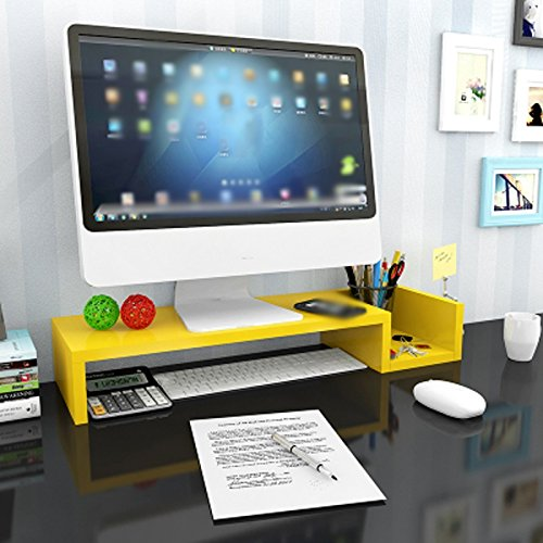 LQQGXL Storage and organization Increased shelf size on computer monitors, desktop keyboard storage rack size 50 20 10cm (Color : 3#) by LQQGXL (Image #2)