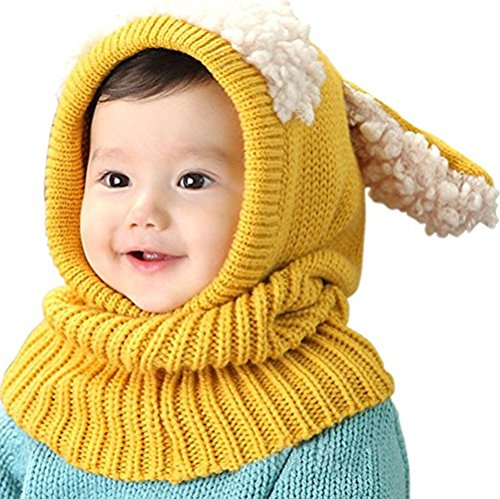 Give Your Child The Best Present Baby Girls Boys Winter Hat Scarf Earflap Hood Scarves Skull Caps Lovely Toddler Boy Girl Baby Kid Bear Fleece Warm Winter Hat Cap Coif Hood Scarf (3)