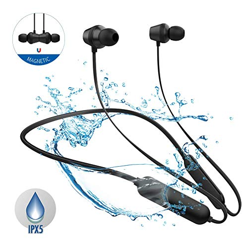 Qi Hong Sport Bluetooth Headphones ipx5 waterproof, Noise Cancelling Beats Wireless Headphones 9 Hours Playtime, Wireless Earbuds with Microphone, Bluetooth Earbuds for Running