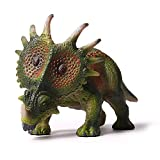 L-Silk Styracosaurus Dinosaur Figure Toys Realistic Model for Kids Green