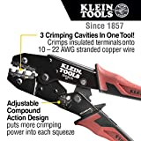Klein Tools 3005CR Wire Crimper Tool, Ratcheting