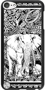 Funda para Ipod Touch 5 - Elefante Del Arte Del Doodle Tribal by BluedarkArt
