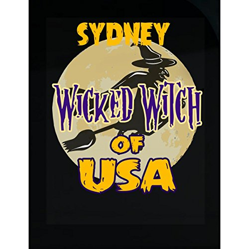 Halloween Costume Sydney Wicked Witch Of Usa Great Personalized Gift - Sticker