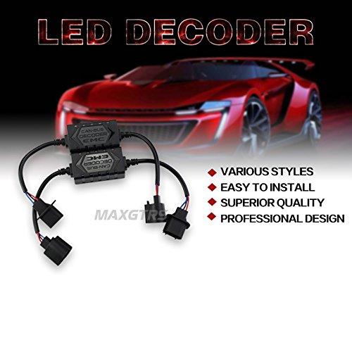 MAXGTRS 2x 9007 EMC Car LED HID Decoder Canceller Canbus Headlight Fog Light DRL IC No Error