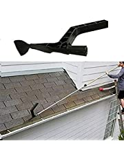 Roof Gutter Cleaning Tool With Threaded, Roof Drain Gutter Cleaner Spoon and Scoop, Ditch Leaf Cleaner for Garden Leaves Ditch Debris Villas Townhouses
