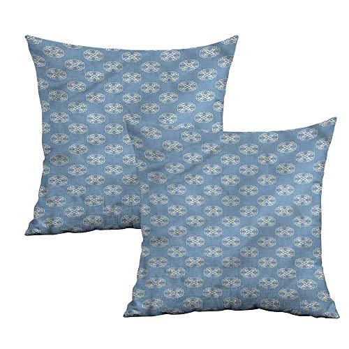 Khaki home Geometric Square Standard Pillowcase Circular Floral Shape Square Pillowcase Protector Cushion Cases Pillowcases for Sofa Bedroom Car W 24