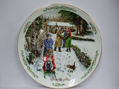 ROYAL DOULTON christmas plate 1992 - GOING TO CHURCH - BNIB - UK MADE - RETIRED