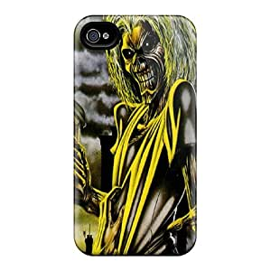 PTv1023jCos Tpu Phone Case With Fashionable Look For Iphone 4/4s - Iron Maiden