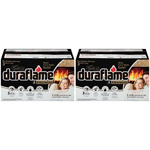 Duraflame 6 Count GOLD LOGS - 2 Boxes