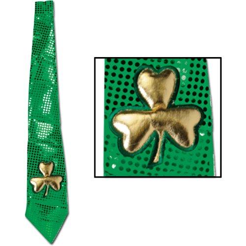 Jumbo St Patrick Glitz 'N Gleam Tie Party Accessory (1 count) (1/Pkg)