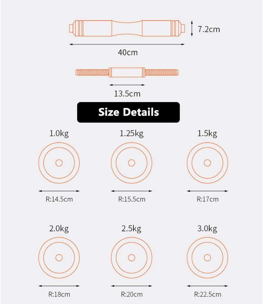 FXH Halt/ères Multifonctionnels Poids R/églable Halt/ères//Kettlebell Ensemble Et Support Push-up Poids des Hommes Fitness /équipement M/énager