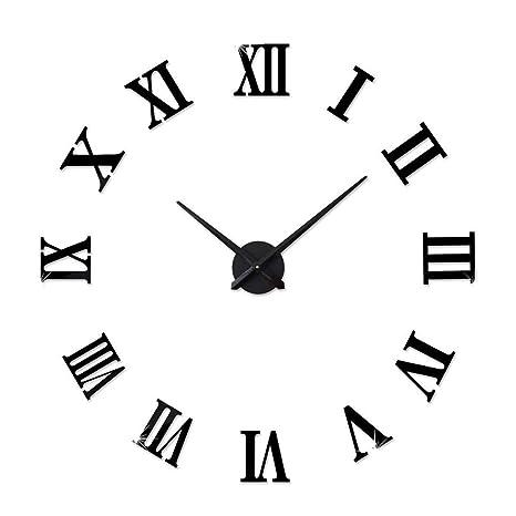 RMXMY Moda Creativo Reloj Digital Dormitorio Sala de Estar casa Espejo Europeo Pared Reloj Personalidad acrílico