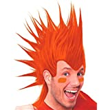 Amscan Party Perfect Team Spirit Crazy Mohawk Wig (1 Piece), Orange, 11 x 8""