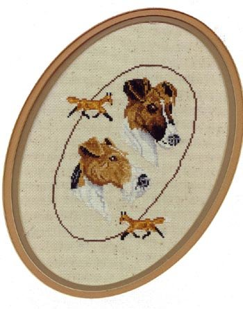 Pegasus Originals Fox Terriers Counted Cross Stitch Chart (Wirehair Fox)