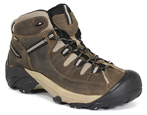 KEEN Men's Targhee II Mid WP Hiking Boot,Shitake/Brindle,15 M US