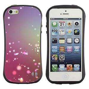 LASTONE PHONE CASE / Suave Silicona Caso Carcasa de Caucho Funda para Apple Iphone 5 / 5S / Shiny Purple Pink Snow