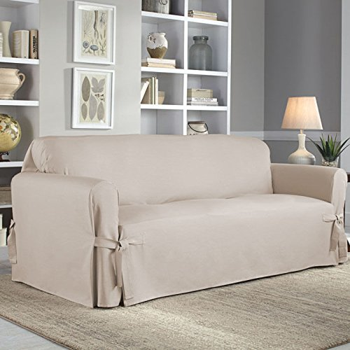 Serta Relaxed Fit Cotton Duck Slipcover for Sofa