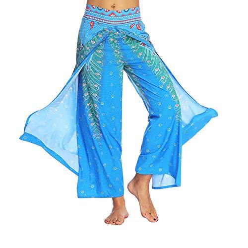 Adeliber Women's Pants Casual Summer Loose Yoga Pants Bohemian Aladdin Jumpsuit Harem Pants