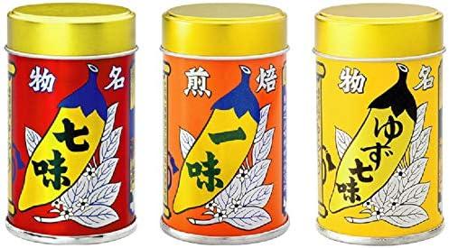 Amazon | 八幡屋礒五郎 七味唐辛子・ゆず七味・焙煎一味(国産) 3種 ...