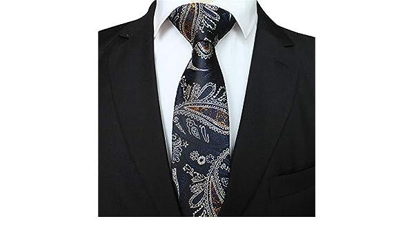 XJIUER corbata Modelos de diseño únicos 8CM Poliéster Seda Corbata ...