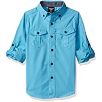 American Hawk Boys' Long Sleeve Chambray Sport Shirt (More Styles Available)