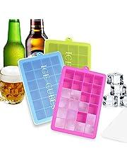 BSET BUY 3 Stück Eiswürfelform Silikon Eiswürfel Form Eiswürfelbehälter Eiswürfelbereiter mit Deckel Ice Tray Ice Cube 24 Fächer, Kühl Aufbewahren BPA frei …