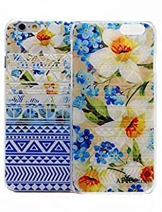 For LG G2 Case Cover Case 5.5 AFYCOLOR Hard PC Material with 4D UV Embossing Craft Print - Aztec Flower Series of Blue Flowers