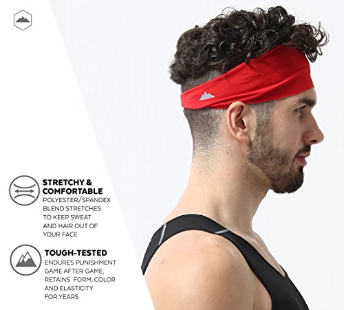 Tough Headwear Mens Headband - Bright Red