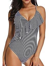 FITTOO Monokini Bikini Mujer Push-up Acolchado Bra Trajes de Baño Brasileño Bañador Una Pieza