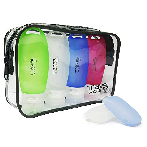 Travel Bottles - TSA Approved 3 oz Travel Containers, Leakproof Travel Tubes + TSA Approved Toiletry Bag + Toothbrush Cover