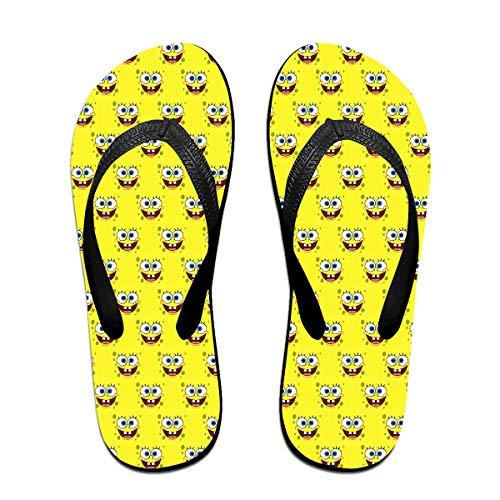 - Unisex Flip Flops Glitter Sandals Spongebob Squarepants Classical Comfortable Slipper for Women/Men Black
