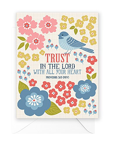 Happy Blue Birds Note Cards - with scripture