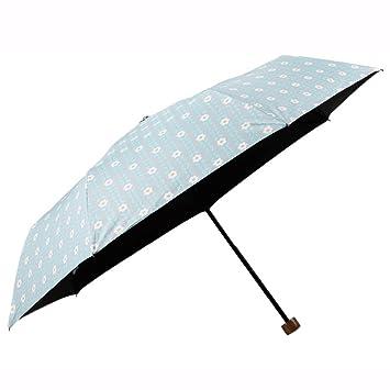 GYB paraguas Sombrillas Sombrillas UV con protección solar Paraguas plegables Paraguas con tres pliegues (Color