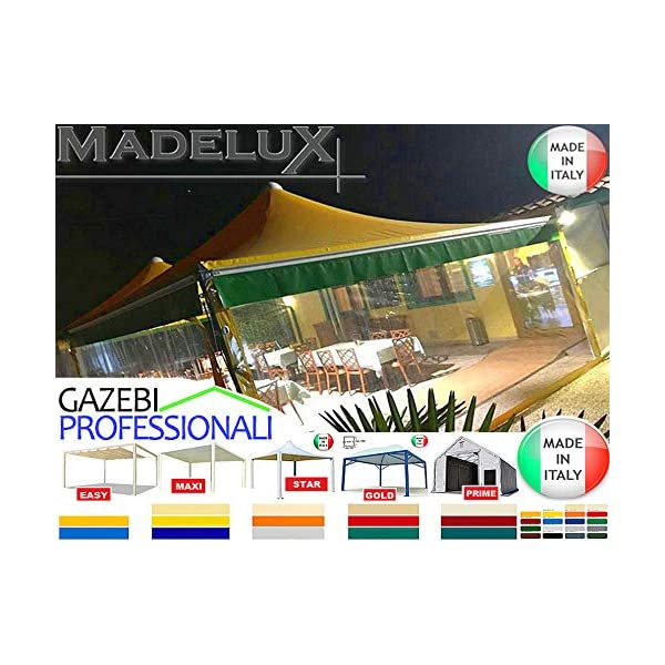 MadeluX Gazebo 6x6 Professionale Certificato e Personalizzabile Stand Eventi Pagoda ignifugo Padiglione pergola tettoia… 2 spesavip