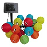e-joy e-Joy Lantern Solar String Lights Globe Lights String Outdoor String Lights, Outdoor, Dancing String Lights, Party String Lights, Patio, Deck, Path, Garden String Lights (20pc, Multi-color)