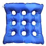 Halovie Cuscino d'aria gonfiabile in PVC 45 x 45cm con rete 3D e circolazione d'aria Anti Decubito Seduto in Carrozzella Cuscino d'aria Materasso per Prolungata Seduta