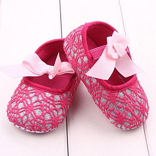 Culater Bebé Zapatos Zapatilla Antideslizante Suela blanda (0~18 meses) Rosa