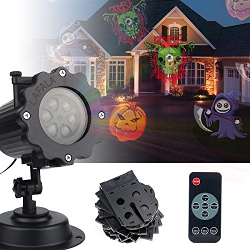 LAFALA Christmas Lights Projector - 2017 Upgrade Version 16PCS Pattern Xmas LED Projector Landscape lamp Remote Control and Waterproof Perfect for Halloween or Christmas