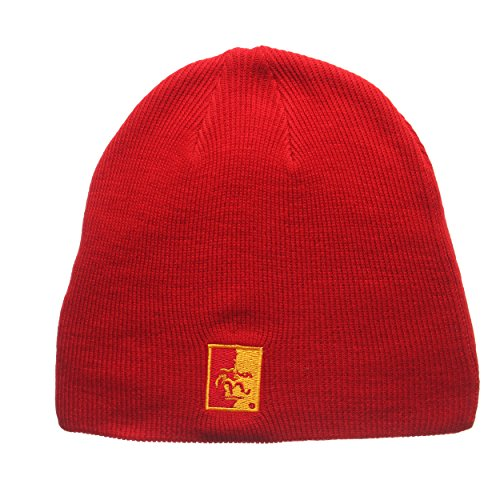 Pittsburg State Cap (ZHATS Pittsburg State Gorillas Red Edge Skull Cap - NCAA Cuffless Winter Knit Beanie Toque Hat)
