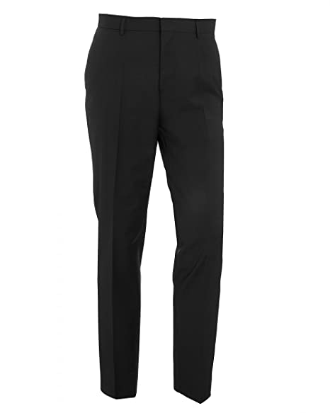 12614a59473f BOSS Hugo Black Mens Balte Navy Blue Slim Fit Cotton Piped Trousers:  Amazon.co.uk: Clothing