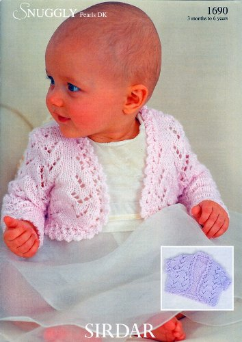 Sirdar Snuggly Pearls DK Baby Knitting Pattern 1690: Amazon.co.uk ...