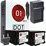 2x DOT-01 Brand Canon HF G40 Batteries and Charger for Canon HF G40 Camera and Canon HFG40 Battery and Charger Bundle for Canon BP828 BP-828