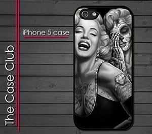 homegohome (TM) Iphone 5 5s Case - Marilyn Monroe Dia De Los Muertos Day of Dead Skull Tattoo Style