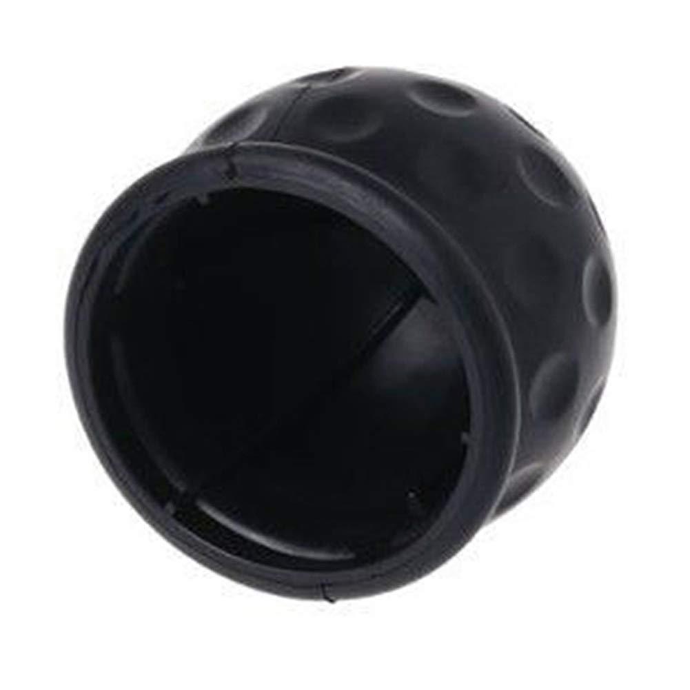 Behavetw Boule dattelage Taille Unique Housse de Voiture Universel Attache Remorque dattelage de remorquage Coque de Protection en Caoutchouc Noir Boule dattelage Cover Cap Noir