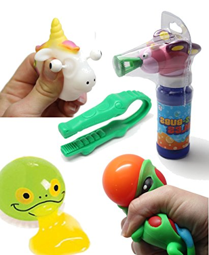 Curious Minds Busy Bags Butterfly Bubble Fine Motor Squeeze Strength Development Bundle #2 - Hand and Finger Strength Tasks - Occupational therapy, ASD, Autism, Sensory toys, Therapy Toy