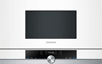 Siemens BF634LGW1 - Microondas, 1220 W, color blanco y gris