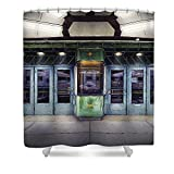 Pixels Shower Curtain (74'' x 71'') ''Downer Theater Box Office''