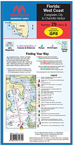 WPC029-02 Florida West Coast: Everglades City to Charlotte Harbor Maptech Waterproof Chart #29 2nd ()